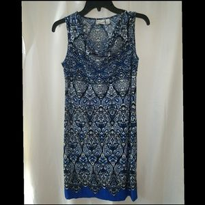 NEW Kim Rogers Blue Moroccan Sheath Dress